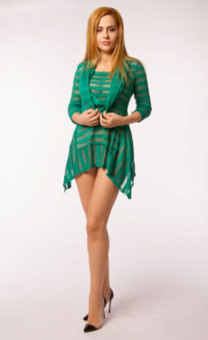 Bluza dungi verde